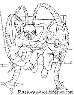 раскраски с человеком пауком