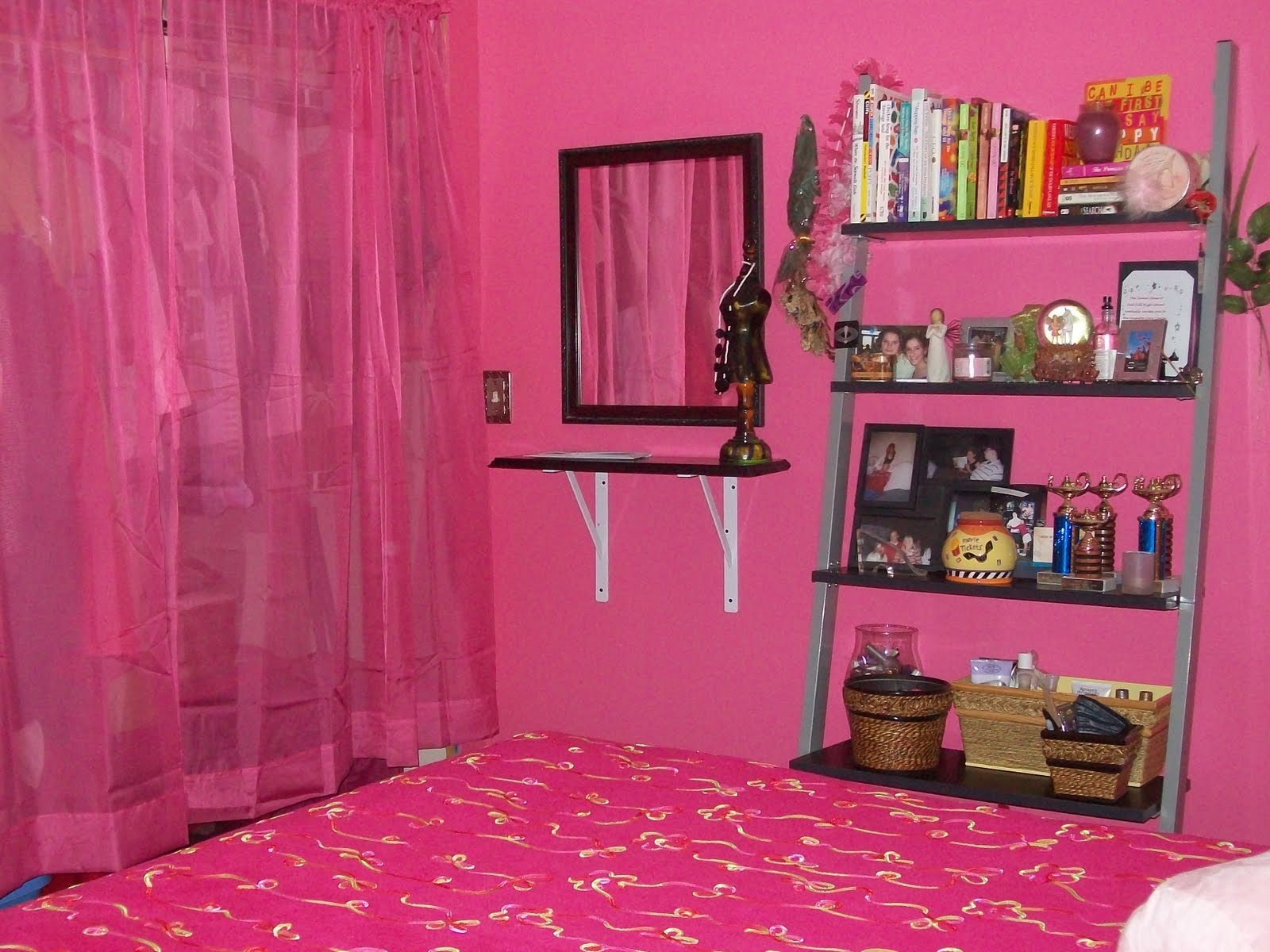 At home on the ridge bedroom redo - Hot pink room ideas ...