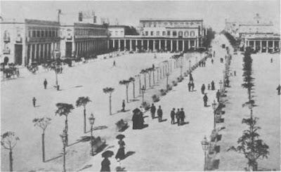 La Plaza Independencia en Montevideo a principios del siglo xx
