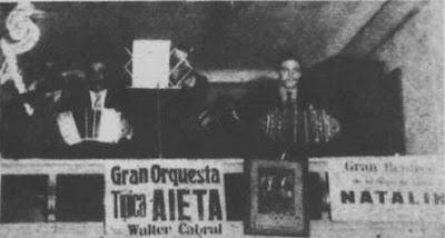 Anselmo Aieta con su conjunto en 1938