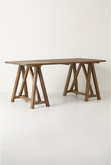 Anthropologie Sawhorse Table Copycatchic