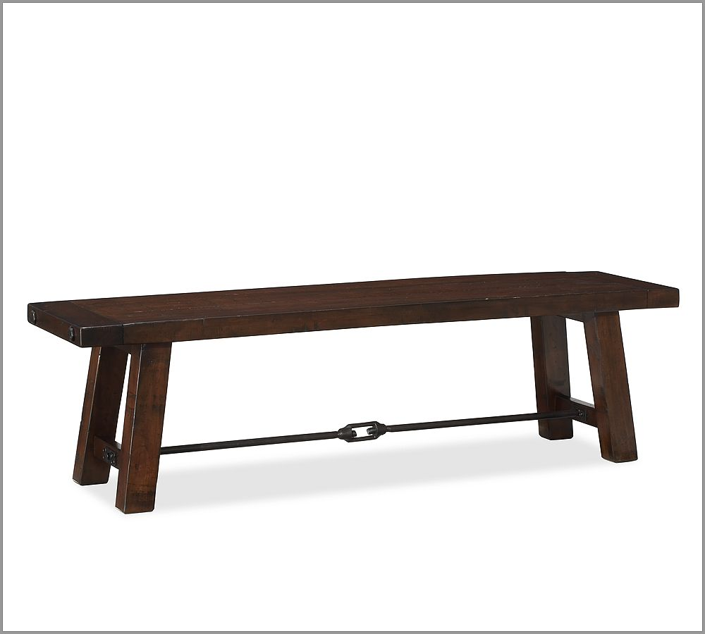 Pottery barn benchwright bench copycatchic for Dining table with bench
