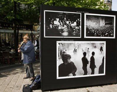 Exposicion fotografica plaza de la Sorbona en Paris