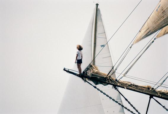 Goleta Thopaga navegando por Mallorca