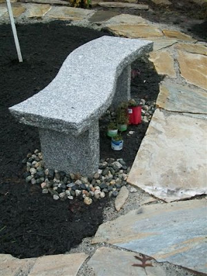 Flagstone with granite bench