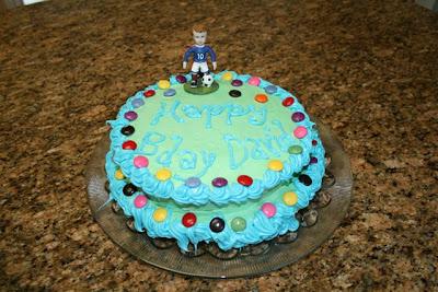 Soccer boy cake
