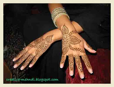 latest arabic hands eid mehndi designs