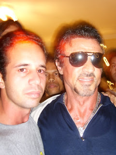 Alvaro Arruda e Sylvester Stallone