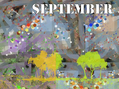 september tree arbres design colors