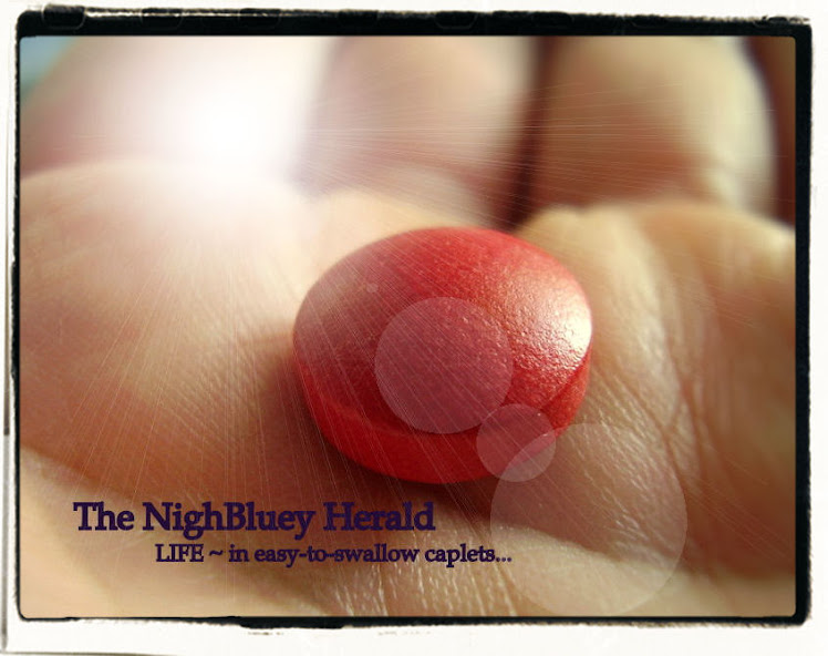 The NighBluey Herald....(Life ~ in easy-to-swallow caplets...)