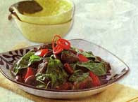 Red Beans Meat Spinach