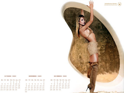 sexy calendar wallpaper. Hot and Sexy 2009 Calendar Wallpaper