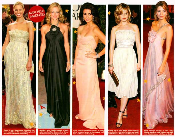 Jennifer Lopez, Penelope Cruz, Jessica Alba - all have worn Marchesa on