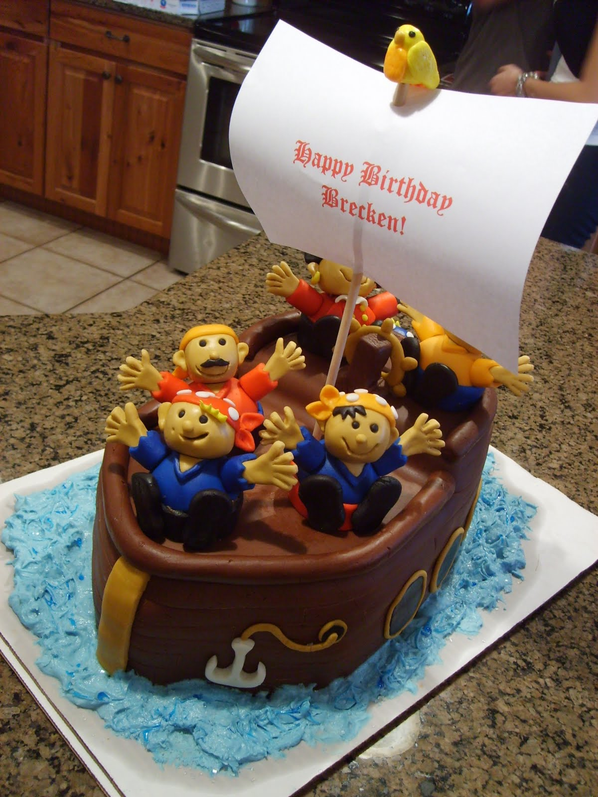 Images Pirate Birthday Cake : The Open Pantry: Marshmallow Fondant and . . . . a Pirate ...