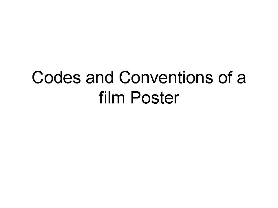 codes and conventions of a documentary O scribd é o maior site social de leitura e publicação do mundo.