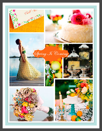 and a little visual sparkle of Bright Spring Wedding Colors with this