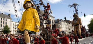 Giant Puppets Celebrating Unity in Germany