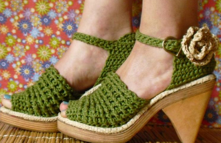 Greguerias y paraphernalia: Sandalias a ganchillo - Crocheted sandals