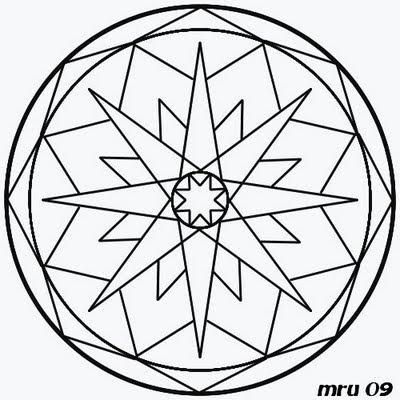 Mandalas - MRU - : MANDALA de NAVIDAD para pintar y colorear FACIL
