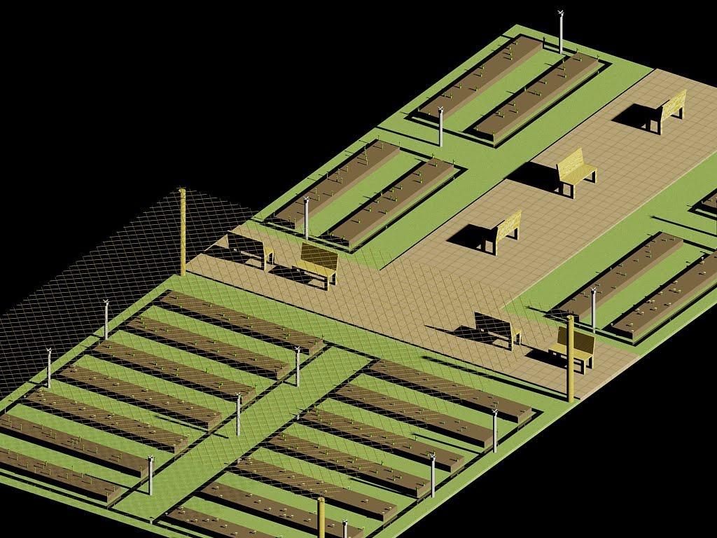Extremamente Horta Comunitária em Roça Grande: Imagens do projeto em 3D BX55