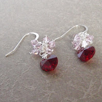 Crystal Earrings by MagsBeadsCreation