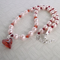 Crystal Necklace by MagsBeadsCreation