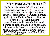 Por el Santo Nombre de Jesús