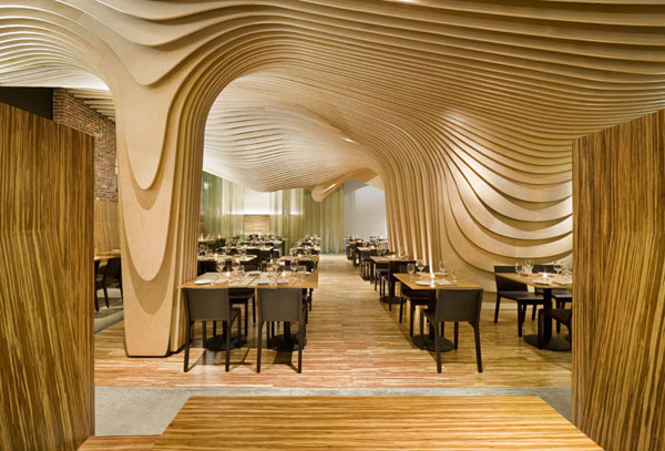 ... Wonderful Modern Restaurant Interior Design : Banq Restaurant In Boston
