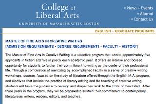 creative writing mfa acceptances 2015