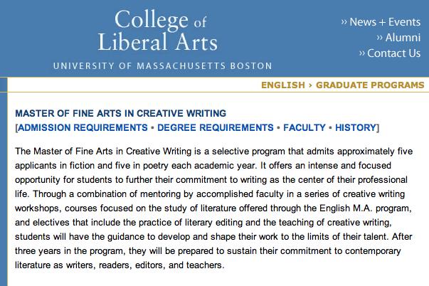 mfa creative writing programs in england