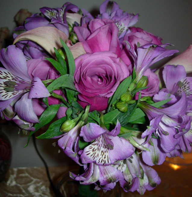 Purple was Fran 39s theme colour She wore a purple dress with a bouquet to
