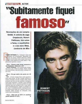Robert Pattinson Interview 2010 on Robert Pattinson Life  New Robert Pattinson Interview With A