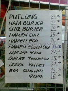 menu burger footlong