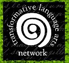 Transformative Language Arts Network logo, from www.tlazine.blogspot.com/