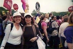 Con Gloria F. Waldman.