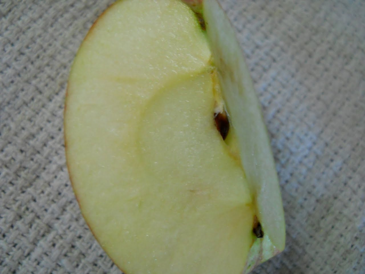 another sign of a ripe apple is brown seeds the seeds of an unripened apple will still be white as the apple ripens so do the seeds inside them and they