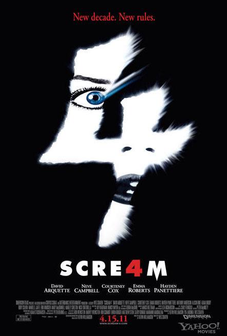 scream 4 posterb - El poster de Scream 4 está para gritar!