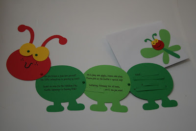Cricut in my classroom caterpillar birthday invitations these invitations are for a friends daughter they are celebrating her first birthday soon they are having a very hungry caterpillar party eric carle filmwisefo