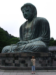 Big Buddha and Carolyn in Kamakura