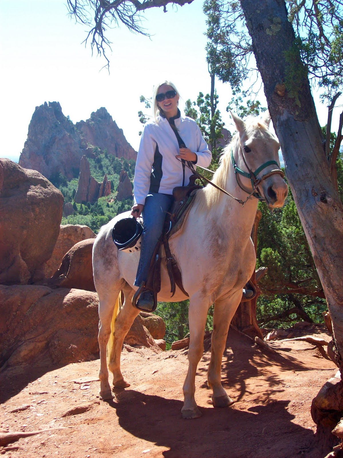 Backstage Balance Riding Through Garden Of The Gods