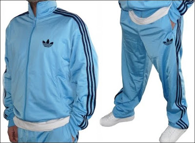 Les3bandes  Jogging adidas Firebird bleu clair bandes bleu marine 59348c778cd