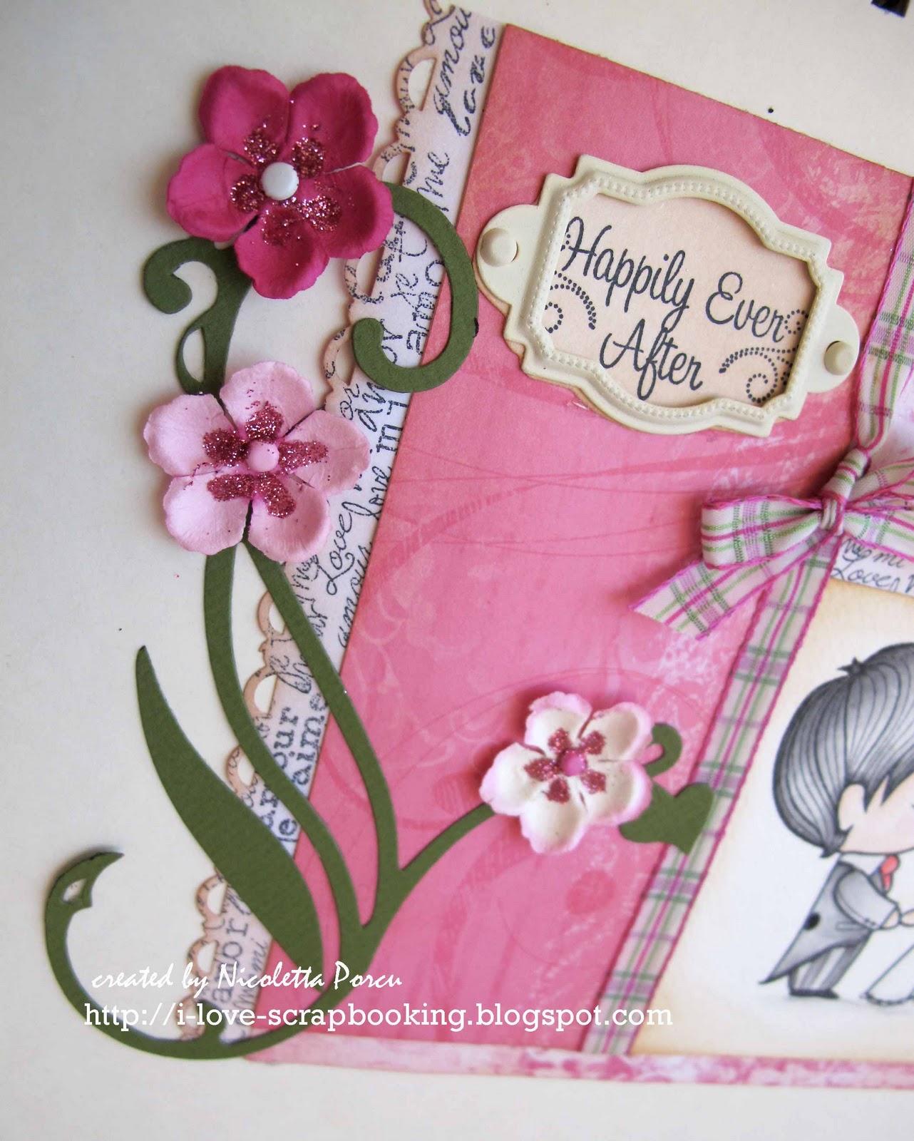 I love scrapbooking matrimonio libro ospiti o guest book - Abbellito con decorazioni ...