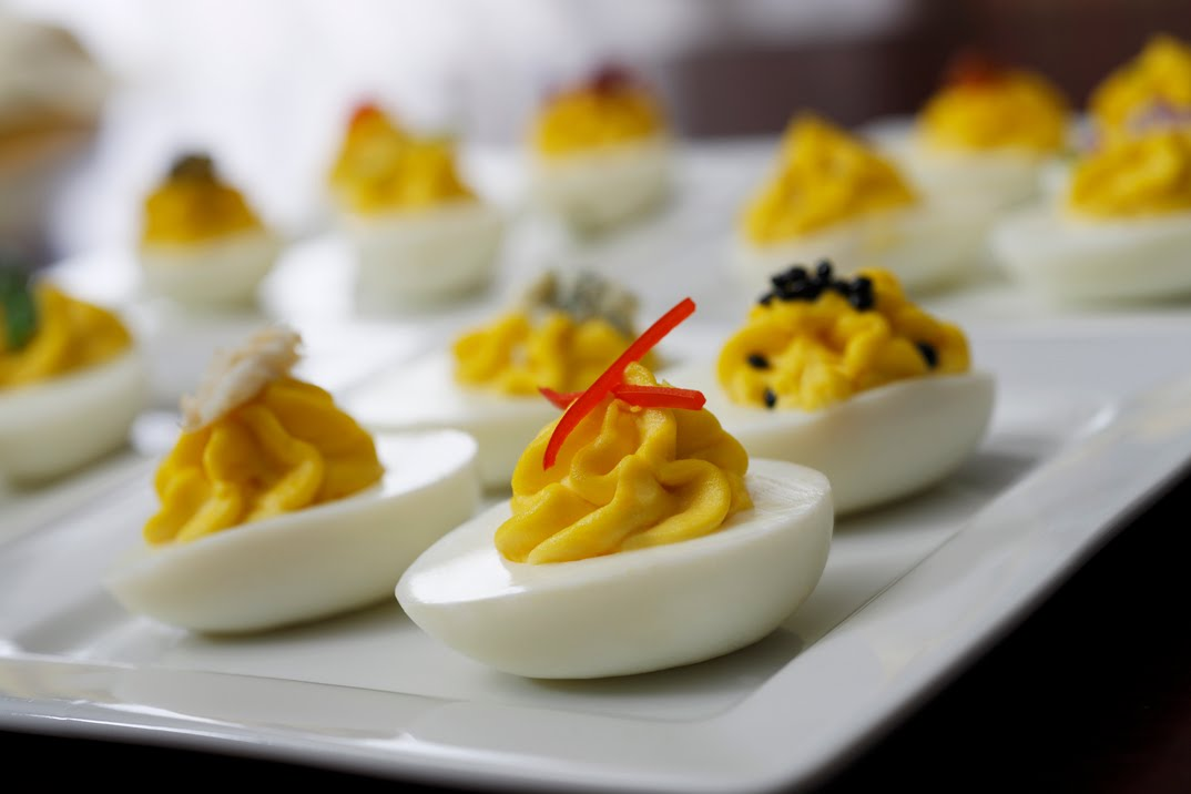 deviled eggs are a classic we often present a deviled egg bar at our ...