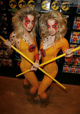 Thundercats Girl on Go Getta Chedda  Halloween Preparations