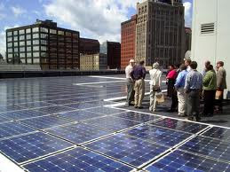 PV Solar Panels & Happy New Yorkers
