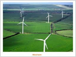 Beautiful Green Pastures & Wind Farm