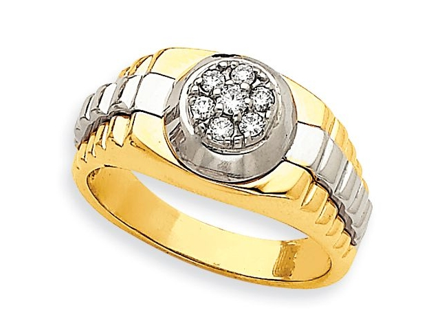 Luxury Diamond Mens Ring