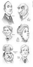 Alguno de sus desternillantes personajes