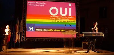 Manifestation homosexuelle à Montpellier