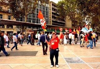 Manifestation contre la loi sur les retraits, Montpellier